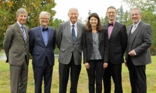 Im Bild (v.l.) Michael Bott, Ulrich Trottenberg, Christian Wandrey, Laura Rolinger, Wolfgang Wiechert, Reiner Winters