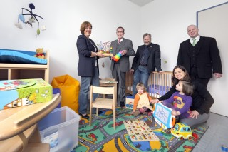 Verein unterstützt Einrichtung des Eltern-Kind-Zimmers